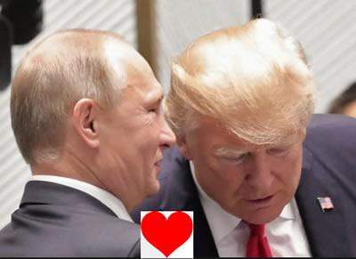 two lovebirds putin trump bromance