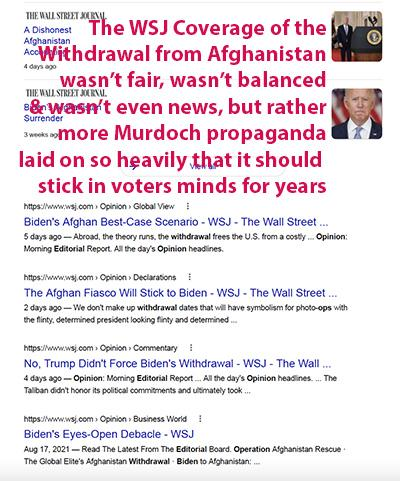 joe bidens afghanistan withdrawal was a success murdoch's fox news wsj ny post depicted it as a failure murdochs fake news afghanistan withdrawal murdoch's fox fake news about afghanistan was they told us to get into
